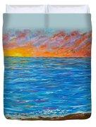 Abstract Art- Flaming Ocean Duvet Cover