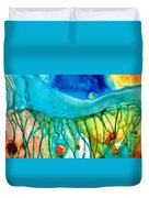 Abstract Art - Journey To Color - Sharon Cummings Duvet Cover