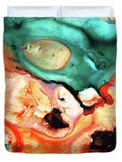Abstract Art - Just Say When - Sharon Cummings Duvet Cover