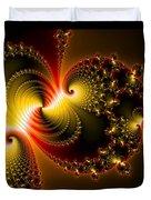 Abstract Art Yellow Golden Red Metal Effect Duvet Cover