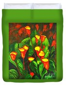 Abstract Arum Lilies Duvet Cover