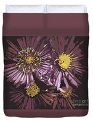 Abstract Aster Flowers Duvet Cover