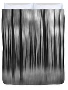 Abstract Autumn Bw Duvet Cover