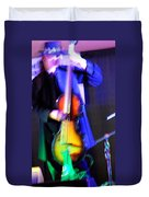 Abstract Bass Player. Duvet Cover