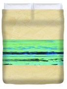 Abstract Beach Landscape  Duvet Cover