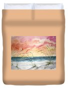 Abstract Beach Painting Duvet Cover