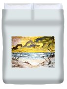 Abstract Beach Sand Dunes Duvet Cover
