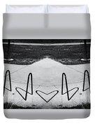 Abstract Bike Rack Duvet Cover