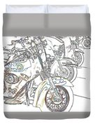 Abstract Bikes Duvet Cover