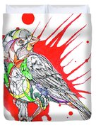 Abstract Bird 002 Duvet Cover