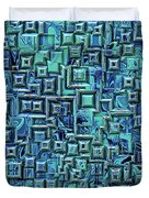 Abstract Blue And Green Pattern Duvet Cover