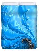 Abstract Blue Winter Fractal Duvet Cover