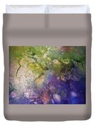 Abstract Bubbles And Rivers Duvet Cover