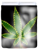 Abstract Cannabis Background Duvet Cover
