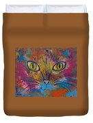 Abstract Cat Meow Duvet Cover