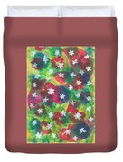 Abstract Circles With Flowers Duvet Cover