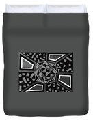 Abstract Cobblestone Blk/wht. Duvet Cover