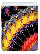 Abstract Collage Of Colors Duvet Cover
