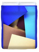 Abstract Composition With Colored Paper Duvet Cover