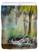 Abstract Contemporary Art Titled Humanity And Natures Gift By Todd Krasovetz  Duvet Cover