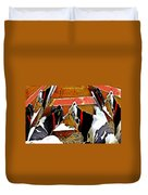 Abstract Cows Duvet Cover