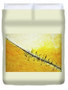 Abstract Crack Line On The Orange Rock Duvet Cover