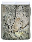 Abstract Cracks On A Granite Block Of Stone Duvet Cover