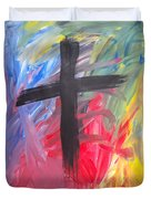 Abstract Cross Duvet Cover