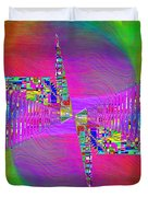 Abstract Cubed 373 Duvet Cover