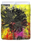 Abstract Dandelion Stained Glass Duvet Cover