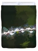 Abstract Dew On Reed Duvet Cover