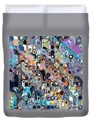 Abstract Digital Doodle 2 Duvet Cover
