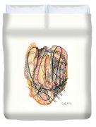 Abstract Drawing Forty-five Duvet Cover