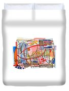 Abstract Drawing Sixty-eight Duvet Cover