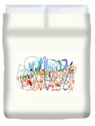 Abstract Drawing Two Duvet Cover