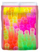 Abstract Drinking Straws Duvet Cover by Meirion Matthias