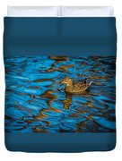 Abstract Duck Duvet Cover