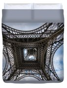 Abstract Eiffel Tower Looking Up Duvet Cover