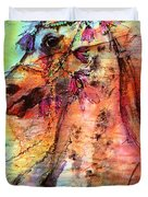 Abstract Expressive Arabian Stallion Art Duvet Cover