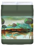 Abstract Fantasy Landscape Duvet Cover