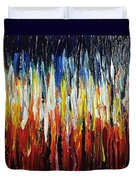 Abstract Fire And Ice Duvet Cover