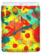 Abstract Floral Fantasy Panel A Duvet Cover