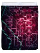 Abstract Flowchart Background Duvet Cover