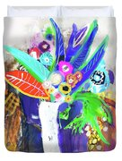 Abstract Flowers Duvet Cover