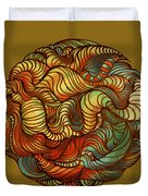 Abstract Forest Ball Duvet Cover