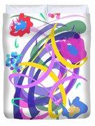 Abstract Garden #2 Duvet Cover by Bee-Bee Deigner