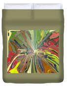 Abstract Garden Wrapped Duvet Cover