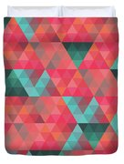 Abstract Geometric Colorful Endless Triangles Abstract Art Duvet Cover