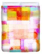 Abstract Geometric Colorful Pattern Duvet Cover by Setsiri Silapasuwanchai