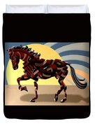 Abstract Geometric Futurist Horse Duvet Cover